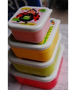 Japanese Square Bento Lunch Box (Set of 4) ~ Friends - $17.98