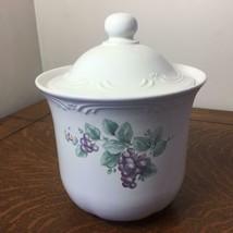 PFALTZGRAFF Pottery Grapevine Canister Jar Lid Storage Kitchen Grapes Med/SM #2 - $23.36