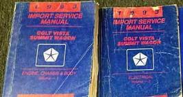 1993 Eagle Summit Wagon & Colt Vista Service Shop Repair Workshop Manual... - $14.84
