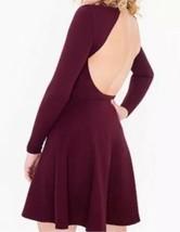Originale American Apparel Violette Vestito da Skater Porto Reale Burgundy XS image 2