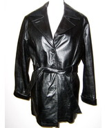 Ladies Wilson Leather Coat Thinsulate 3/4 Length Zip Out Lining Medium - $36.00