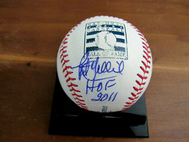 PAT GILLICK HOF 2011 3X WSC BLUE JAYS PHILLIES SIGNED AUTO HOF LOGO BASE... - $118.79