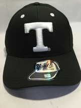 NCAA Tennessee Volunteers Cap Youth Boys Black & White Structured Adjustable Hat - $11.78