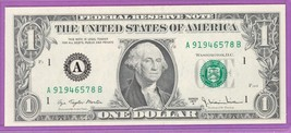 1977A $1.00 Federal Reserve Note Boston District AB block Run 1 A9194657... - $4.49