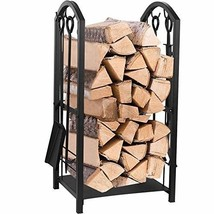 Juvale Firewood Rack with 4 Fireplace Tools - Fireplace Log Holder for I... - $62.02
