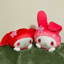 My Melody Sakura Cherry Blossom Sleeping Big Plush 2 Set Pink Red Sanrio 1 - $67.67