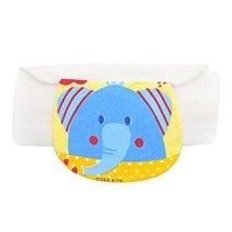 2 PCS Blue Elephant Pattern Babies Sweat Absorbent Towels, 32x24 cm