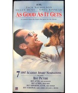 Vhs-As Good As It Gets-Movie - $4.50