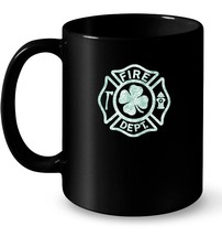 St Patricks Day Distressed Firefighter Ceramic Mug - $13.99+