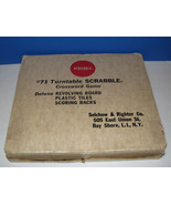 1954 Vintage #71 Turntable Scrabble Crossword Game White Tiles Selchow R... - $75.00