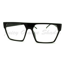 Clear Lens Glasses Flat Top Square Trapezoid Shape Eyeglasses Frame - $9.95