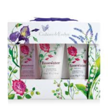 Crabtree & Evelyn ROSE WATER 3 Piece Gift Set New in Box  - $34.99