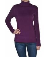 Leo & Nicole Ladies Turtleneck Ribbed Sweater Vino Purple Variety of Sizes - $15.79
