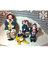 RAGGEDY ANN and ANDY FIGURINE SET by GAIL WEST - Set of 4 - EXCELLENT! - $19.99