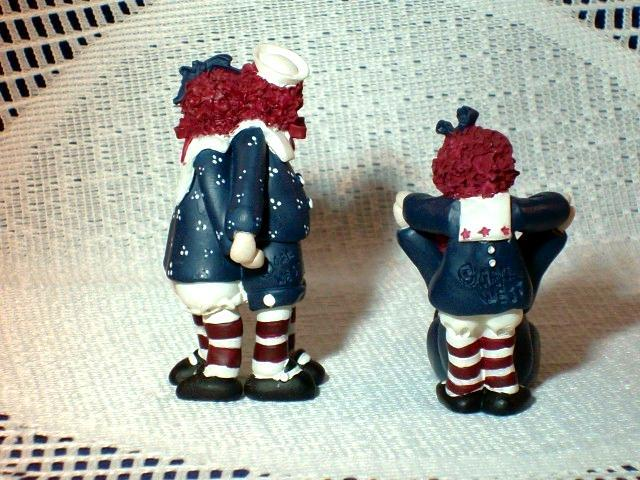 RAGGEDY ANN and ANDY FIGURINE SET by GAIL WEST - Set of 4 - EXCELLENT!