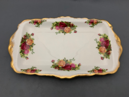 """Royal Albert Old Country Roses 11,1/2"""" Long Sandwich Tray.Made in England. - $23.00"""