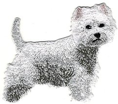 Westie Westy West Highland White Terrier Dog Breed Embroidery Patch - $8.91