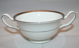 Wedgwood Gloucester Bone China White Silver Rimmed Footed Soup Cup  England - $30.97