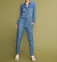 Anthropologie Laureen Denim Jumpsuit by Reiko $230 Sx XS - NWT - $139.99
