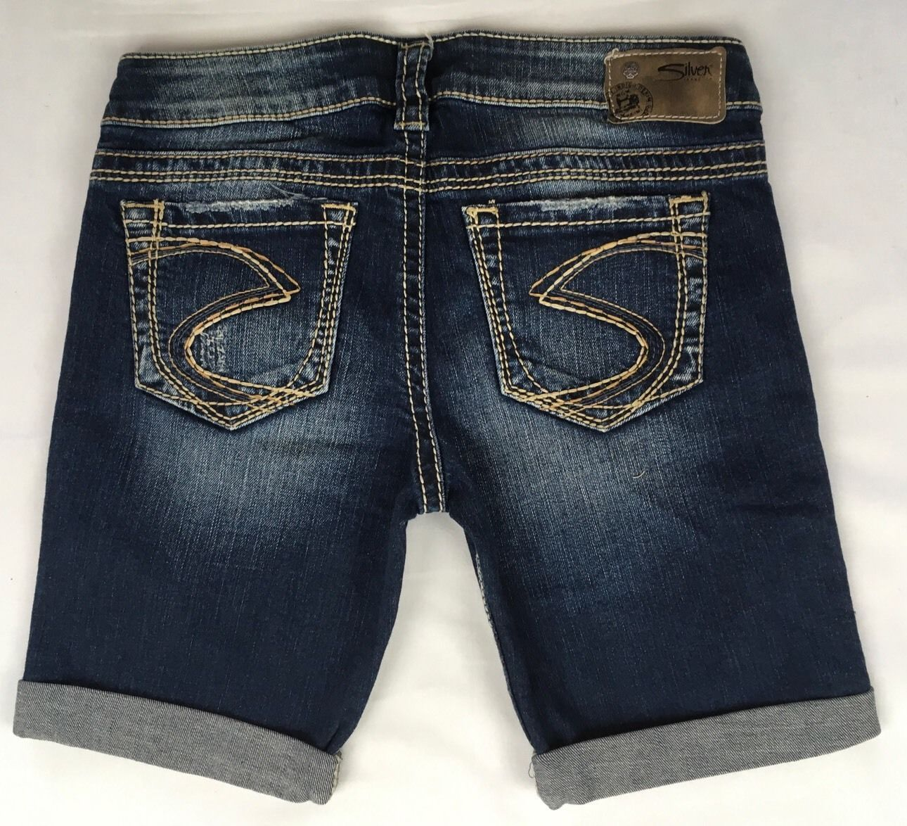 c6c99426 SILVER JEANS Sale New Buckle Low Rise Frances Stretch Jean Denim Shorts 28  31