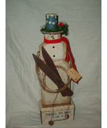 """RUSS BERRIE CHRISTMAS """"THERE'S NO MAN LIKE A SNOWMAN"""" by PAT MOORE NWT M... - $42.58"""