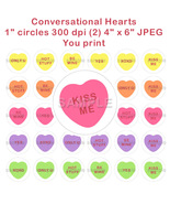 """Valentines Day Convo Conversational Hearts Bottle Cap Images Sayings 1"""" ... - $2.00"""