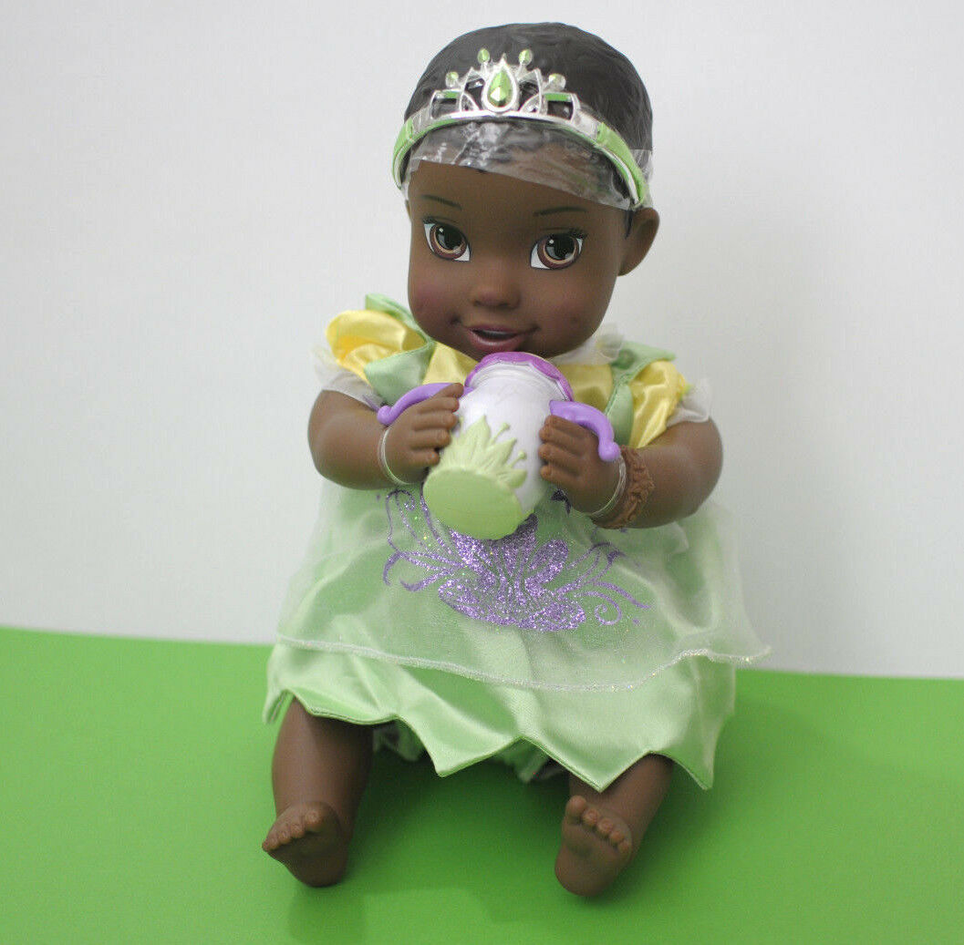 Primary image for My First Disney Princess Tiana and The Frog Baby Doll Tiara Bottle Green Dress