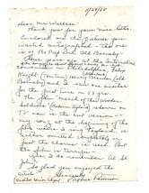 Virginia Karns (Patterson) autographs, hand-written letter-singer, actress - $25.00