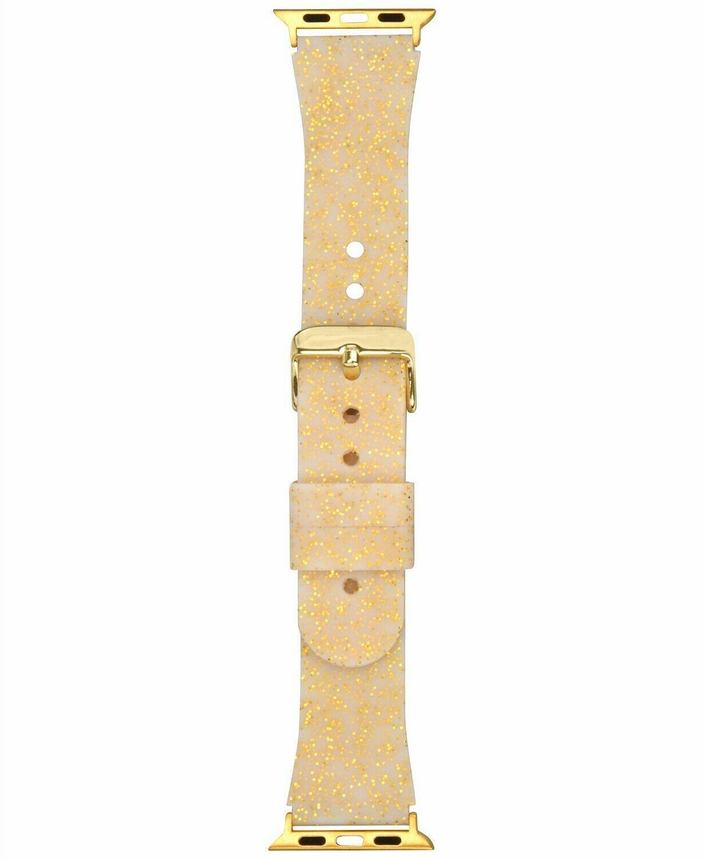 I. N.c. Donna Metallico Color Oro Glitter Silicone 38mm Apple Cinturino
