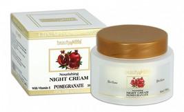 Night nourishing face cream with Pomegranate Dead Sea Beauty Life 1.7fl.oz/50ml - $14.85