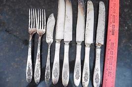 Vintage Community Silver Plated Birds of Paradise pattern fork & knives - $6.90
