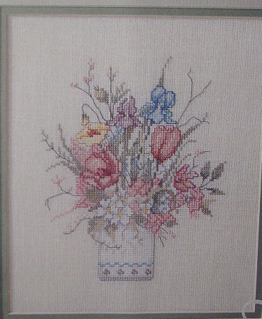 Three Counted Cross Stitch Floral Design Leaflets