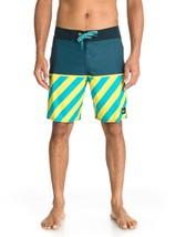 New Quiksilver Young Guns Swim Trunks Board Shorts Sz 32 Surf $62 Blue Yellow - $28.01