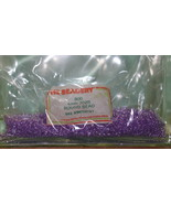 4mm ROUND BEADS THE BEADERY PLASTIC AMETHYST 1 PACKAGE 1,600 COUNT - $3.99