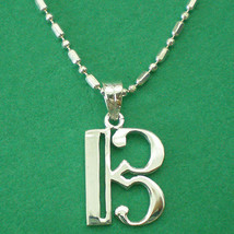 Alto Clef C Music Note Silver Necklace Pendant Charm Chain - $29.00