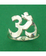 Sterling Silver OM OHM AUM Silver Ring - $32.00