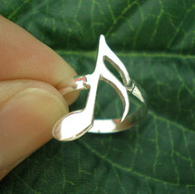 Semiquaver Sixteenth Note Ring - Musical Symbol Note Jewelry - $29.00