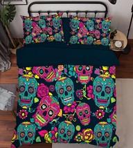 3D Nice Skulls 2 Bed Pillowcases Quilt Duvet Cover Set Single Queen King... - $90.04+