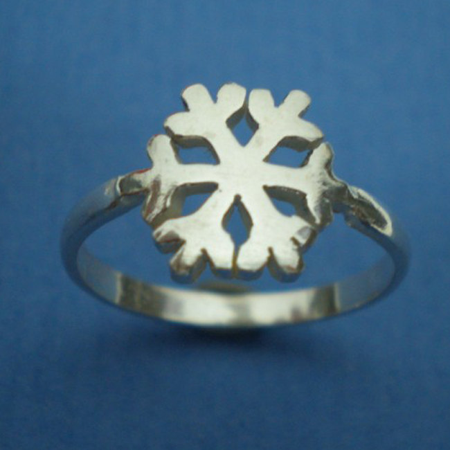 Xmas Silver Snow Flake Ring - SnowFlake Ring Jewelry