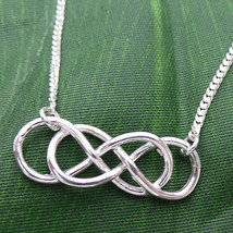 Revenge Double Infinity Times Infinity Silver Necklace - $43.00