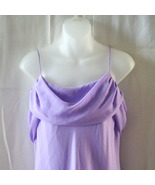 New long lilac size 13 bridesmaid dress with draped bodice & spaghetti s... - $18.75