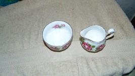 Royal Adderley The Miss Canada Rose Pattern Cream & Sugar NICE FREE USA ... - $23.36