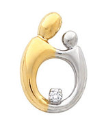 14K Two-Tone Gold Mother and Child® Diamond Pendant (Choice of size) - $195.99+