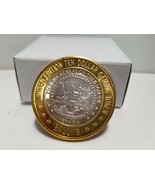 FINE SILVER .999 THE GREAT SEAL GAMING TOKEN $10 L.E  BALLY'S 777 #BS21 - $25.65