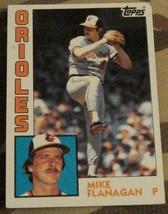 Mike Flanagan, Orioles,  1984  #295 Topps  Baseball Card,  GOOD CONDITION - $2.96