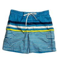Sportek Men Size 2XL (Measure 44x10) Blue Swim Trunks Striped Cargo Beach - $5.94