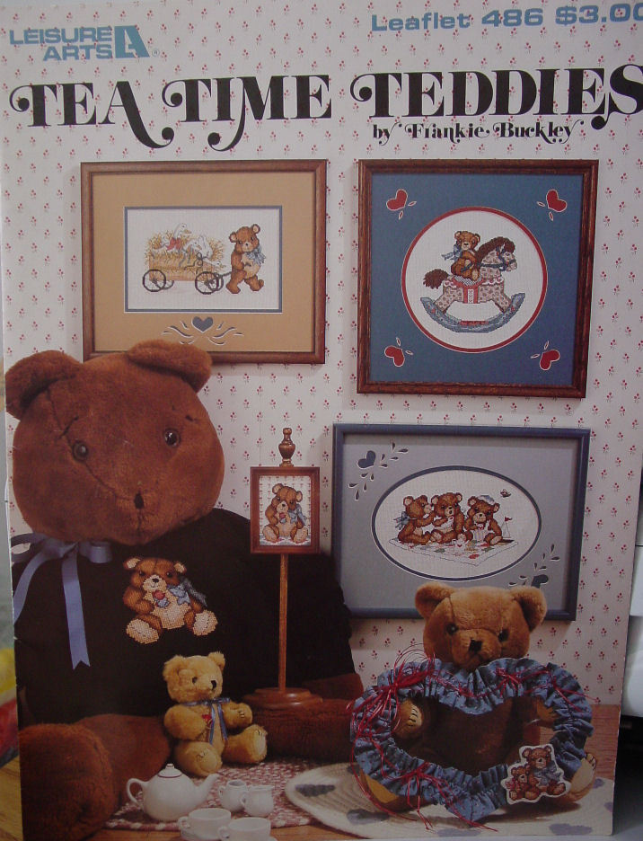 Two Counted Cross Stitch Leaflets with Teddy Bear Designs