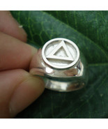 AA Alcoholics Anonymous Ring - Serenity Prayer AA Recovery Jewelry - $65.00