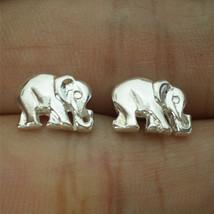 Elephant Family Love Silver Ear Stud - $29.00