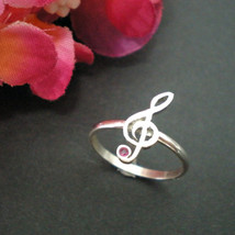 Music Treble Clef G-Clef Ring - $28.00